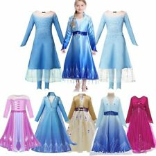Children New Snow Queen Halloween Carnival Party Frock Girl Clothes