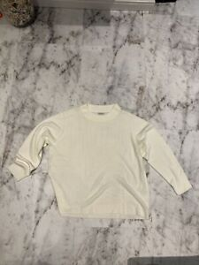 Ladies Cream Damart Long Sleeve Jumper Size Xxl 26/28 New Without Tags
