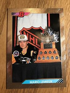 1992 BOWMAN HOCKEY #440 MARIO LEMIEUX...GEM MINT!! **GOLD FOIL**
