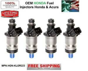 Set of 4 OEM Honda Fuel Injectors for 1998-1999-2000-2001-2002 Honda Accord 2.3L