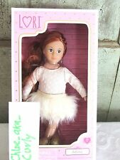 "LORI 6"" Mini Doll Adina Red Hair Blue grey Eyes in Dance BALLET outfit NIB"