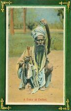 PC INDIA INDIAN HINDU DELHI FAKIR MAN  SOCIAL HISTORY / ETHNIC c1912