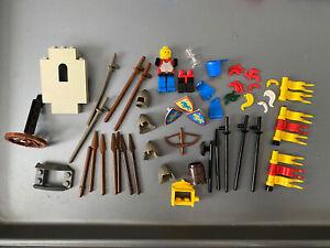 LEGO Castle Knights Minifigures LOT Weapons Flags Shields Vintage Parts