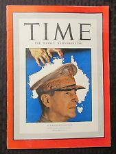 1942 March 30 TIME Weekly Magazine VG+ 4.5 General Douglas MacArthur