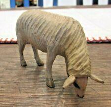 Putz Anri Italy German Carved Wood Nativity Sheep Grazing