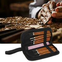 12x Woodcut Knife Woodworking Arts Crafts Engraving Carving Tools Set Kit w/ Bag