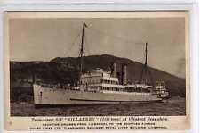 """(La9352-424)  S/Y. """"KILLARNEY""""  c1930 Unused VG"""