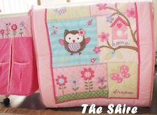 Baby Bedding Crib Cot Quilt Set- NEW 8pcs Quilt Bumper Sheet Dust Ruffle