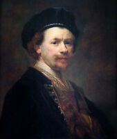 Dream-art Oil painting Rembrandt Netherlands Artist self-portrait hand painted