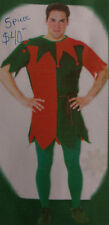 New Rubies Unisex Felt  Elf Costume w/Tunic, Shoes, Rope Belt, & Hat  Fits Most