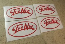 Tee Nee Vintage Boat Trailer Decals 4-pak Pick RED Free Ship + Fish Decal