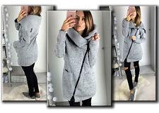 Winter Womens Casual Hooded Jacket Coat Long Zipper Sweatshirt Outwear Tops US
