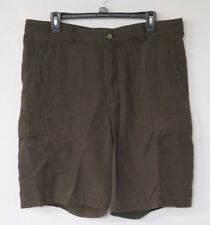 Tommy Bahama Men's Shorts Size 34 Tencel Cotton Blend Brown Cargo Pockets TR808