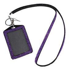 Titular tarjeta identificacion cordon estras cristal(purpura) G8N6