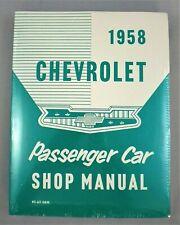 1958 Chevrolet Passenger Car Factory Workshop Manual