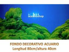 FONDO DECORATIVO de ACUARIO longitud 80cm altura 40cm musgo pecera terrario D467