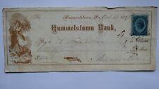 $20 Hummelstown Pennsylvania PA Cancelled Check! Hummelstown Bank
