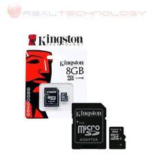 MICRO SD 8GB CLASSE 10 + ADATTATORE KINGSTON SDC10/8GB NUOVA GARANZIA