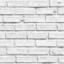 Arthouse Wallpaper VIP Brick White 623004 – 10m Roll