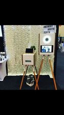 250*250cm White Rose Pattern Backdrop for Wedding Photo Booth Hanging Pocket