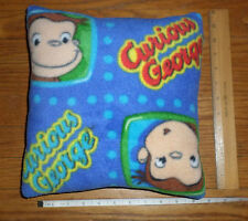 New ** Curious George ** Small FLEECE Fabric Pillow   Handmade in USA
