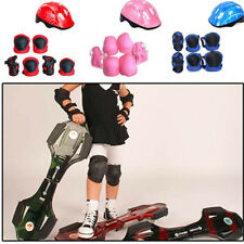 7Pcs/Set Children Kids Safety Helmet Knee Elbow Pad Cycling Skating Protection A