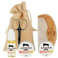 Beard Grooming Kit   Oil, Balm, Moustache Wax, Comb & Scissors   Orange Bergamot