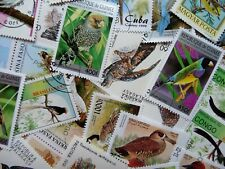 Thematic pack of 100 Birds MNH & CTO FREE DELIVERY