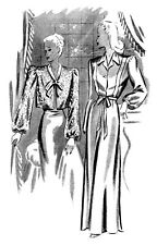 1940s 40s Haslam Draft Pattern Making Book #7 (Sewing Drafting) Dress Fashions