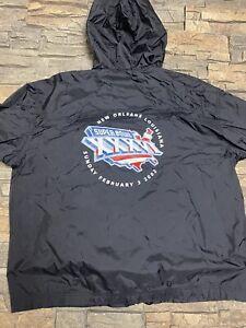 Superbowl 36 2002 Vtg Windbreaker Jacket Sz L New England Patriots New Orleans