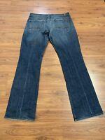 Men's 7 For All Mankind Jeans Austyn Zip Fly Boot Leg Medium Wash Sz 32 34x29.5