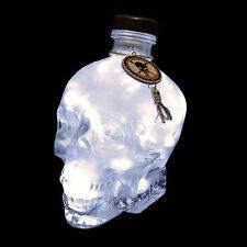 Crystal HEAD VODKA SMERIGLIATA 700ml 70cl COPERTA TESCHIO bottiglia LED Lampada Luce