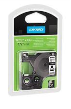Dymo D1 Permanent Polyester (12mm) label Tape (Black on White)