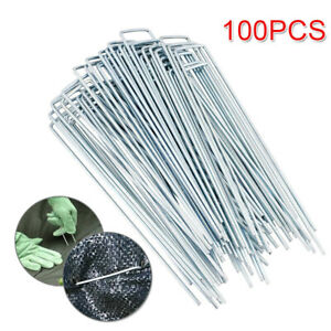 new metal ground garden membrane pins fabric hooks staples U pins 100 pc