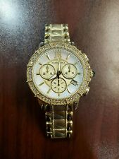 Judith Ripka Chronograph Stainless Steel 38mm Gold-Tone Dial Womens Watch