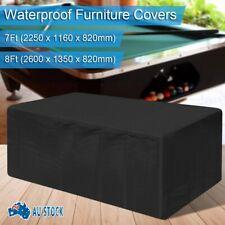 Waterproof Dust 7ft/8ft Outdoor Pool Snooker Billiard Table Cover Polyester Cap