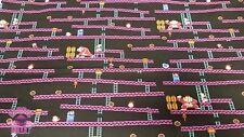 Nintendo Jumpman's Ascent Donkey Kong Video Game 8 Bit Cotton Fabric By the Yard