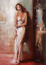 Ron di Scenza: Beyond Seduction Fertig-Bild 50x70 Wandbild Mädchen Frau