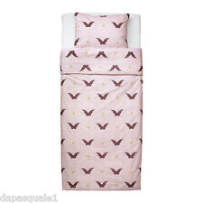 IKEA SILKIG - Duvet Cover and Pillowcase Twin Size Butterfly Pink Cotton