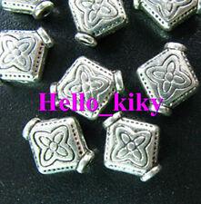 80 pcs Tibetan silver floral pot spacer beads A5025