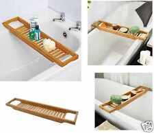 Bambou over bath rack tidy salle de bain rangement stand tray baignoire douche caddy unité