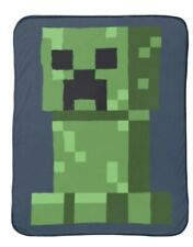 "Minecraft Creeper Throw Blanket 46"" x 60"" Plush Soft New Mojang"