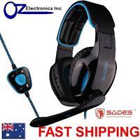 SADES SNUK USB PC Gaming Headset Mic Chat BRAND NEW Genuine Melbourne NEW