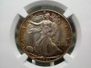 "1943 ""P"" Walking Liberty Half Dollar 50c NGC MS65 East Coast Coin & Collectables"
