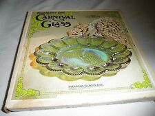 Indiana IRIDESCENT Carnival Glass GREEN  #7058 EGG Relish Dish Plate Tray in Box