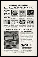 1954 ZENITH Super Deluxe Trans-Oceanic Vintage Portable Radio PRINT AD