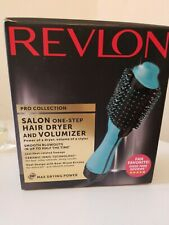 Revlon PRO Collection Salon One Step Hair Dryer & Volumizer Brush Teal - New