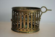 ANTIQUE BRASS CANDLE HOLDER WITH FINGER HANDLE