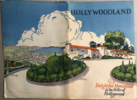 Rare 1920s HOLLYWOODLAND Hollywood Beachwood Canyon Brochure Architecture Homes