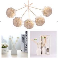 5pcs Diffuser Sticks Practical Bathrooms Rattan Reed Flower Head Aroma Hotel